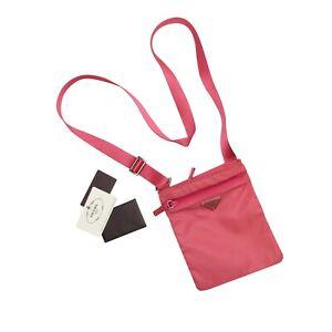 Prada Shoulder Bag Pink Tessuto Nylon Crossbody Pouch
