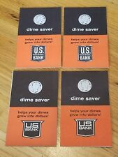 lot of 4 unused 1963 US National Bank Dime Saver mercury dime on cover