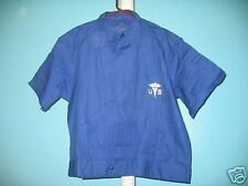 Orig Vietnam Era Blue Cotton Medic Shirt Sz Large