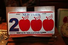 2000 New York New Millenium Big Apple License Plate Novelty New Embossed Metal