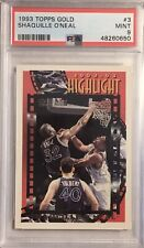 New listing 1993 Topps Gold Shaquille O'Neal PSA 9