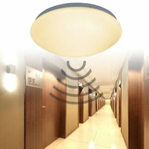 12W LED Deckenleuchte Lampe Sensor Wandleuchte mit PIR-Sensor Radar 360° IP44