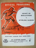 1961 Scottish League Cup SEMI FINAL- HEART OF MIDLOTHIAN v STIRLING ALBION