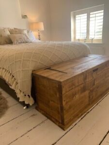 Large Solid Pine Blanket Box/Toy Chest/Coffee Table