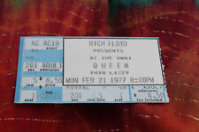 Queen/Thin Lizzy,Feb. 21,'77,A Day At The Races Tour,Concert Ticket,Atlanta Omni
