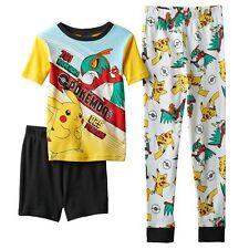 Pokemon 3-pc Cotton Pajama Set Size 8 Retail $38 NWT