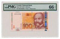 CROATIA banknote 100 KUNA 2012. PMG grade MS-66 EPQ