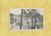 NY PIKE FILLMORE area FIRE ? rare 1910 RPPC postcard Eagle Hotel Sign