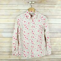 LC LAUREN CONRAD Women's Long Sleeve Button Front Shirt S Small Pink Floral
