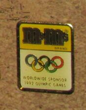 D12 PIN OLYMPIC OLYMPIQUE GAME SPORT M & M WORLDWIDE SPONSOR 1992