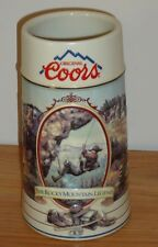 "COORS The Rocky Mountain Legend Series STEIN 7"" tall MUG 1994 Mt. Repelling"