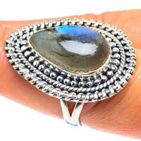 Labradorite 925 Sterling Silver Ring Size 8.25 Ana Co Jewelry R59172F