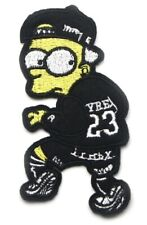 "Bart Simpson Patch Embroidered Sew / Iron On Applique 4"" X 2"""
