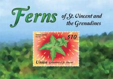 UNION ISLAND 2015 - FERNS OF ST. VINCENT STAMP SOUVENIR SHEET MNH