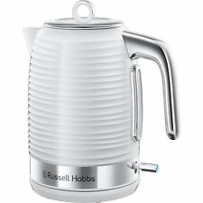 Russell Hobbs 24360 Inspire Electric Rapid Boil Jug Kettle 1.7 L, White & Chrome