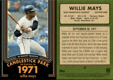 2020 Topps Heritage - WILLIE MAYS 20 GIANTS SEASONS INSERTS - U Pick From List