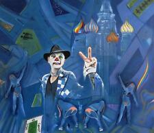 ORIGINALE Martin Davis CARDINALE sin Orgoglio e pregiudizio espressivo Clown Pittura