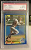 PSA Graded 8 NM-MT - 1990 SAMMY SOSA Score Baseball Rookie Card # 558