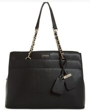 New GUESS  Katiana Chain Strap Girlfriend Shoulder Bag black triple compartment