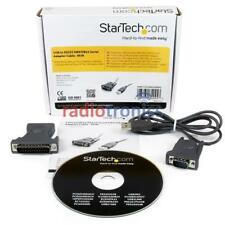 StarTech USB RS232 DB9 DB25 Serial Adapter Cable Lead Two Way Radio Programming