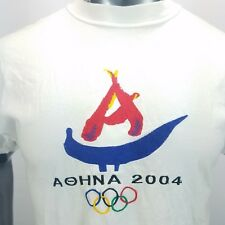 Aohna 2004 Olympics Embroidered XL 100% Cotton T Shirt