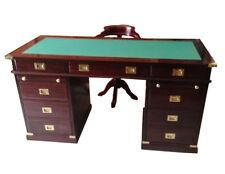 Occasione  scrivania Royal Navy stile marina in legno di mogano qualità