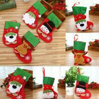 Christmas Stockings Socks Santa Claus Candy Gift Bag Xmas Tree Decor Festivals