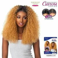 Sensationnel Empress 6 Inch Part Curly Long Custom Lace Front Wig Brazilian Wave