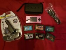 NINTENDO GAMEBOY MICRO WITH GAMES, FULL SET UP READY TO PLAY.
