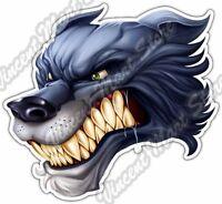"""Wolf Stare Head Wildlife Forest Animal Car Bumper Vinyl Sticker Decal 4.6""""X4.6"""""""