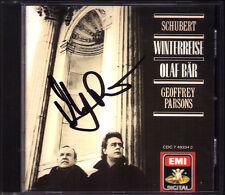 Olaf BÄR Signiert SCHUBERT Die Winterreise D.911 Geoffrey PARSONS EMI CD 1989 WG