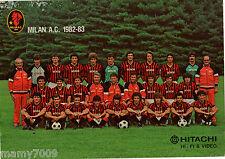 FOTO=ROSA MILAN A.C. 1982/83=CM 24X17