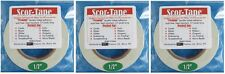 """Sookwang Scor-Tape THREE Roll Lot 1/2"""" x 27 yards Double-sided Adhesive Tape"""