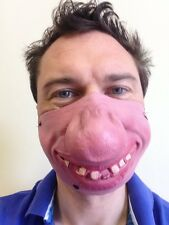 Half Face Clown Mask Big Nose Hillbilly Teeth Fancy Dress Stag Party Masquerade