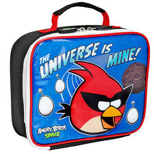 ANGRY BIRDS SPACE SUPER RED BIRD Lead Free Insulated School Lunch Tote Box NWT