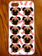 New IPhone 5/5s Case, Pug, Emoji, Funny, Quirky, Cartoon Design, Dog Lover