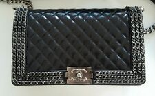 BRAND NEW 100% AUTHENTIC CHANEL BOY LARGE CHAINED FLAP BAG RRP $8900