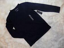 New Marc Anthony Slim Fit Knit Terry Crewneck Tee Mens Medium Navy Long Sleeve