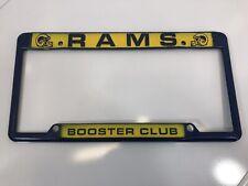Vintage Metal Los Angeles Rams Booster Club License Plate Frame