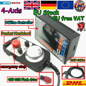 【Ger】 4 Axis 3.1 Stand alone Motion Offline CNC Controller System +MPG Handwheel