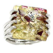 Pink Tourmaline 925 Silver Ring Jewelry s.5.5 RR56315