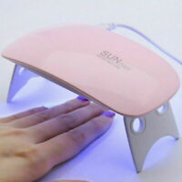 6w UV & LED Gel Curing Nail Lamp Salon Light Dryer With Timer Manicure Portable