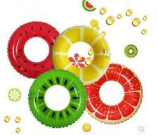 Sun & Sky 35 in/89 cm Inflatable Fruit Swim Ring Lemon Watermelon Grapefruit New