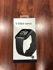 Fitbit Versa Smartwatch Black/Black Aluminium S & L Bands Included New!!!