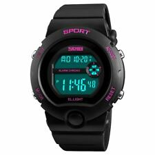 SKMEI Girls Digital Watch Pink Markers 50m Resistant Stopwatch Alarm Ages 5-13