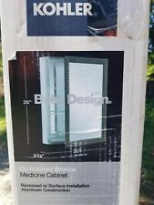 KOHLER Mirrored Medicine Cabinet 20inx26in Aluminum Oil Rubbed Bronze K-2967-BR