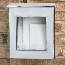 Vertical Wall Mount Stainless Steel Mailbox with Viewing Panel