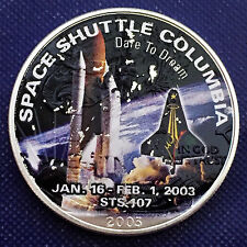 2003 Space Shuttle Columbia Walking Eagle 1 oz .999 Silver Art Round