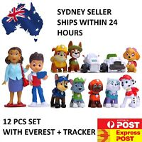 Paw Patrol Cake Toppers Kids Birthday Party Toys Cupcake Decoration Figure 12PC