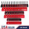 "6pc Socket Organizer Tray Rack Storage Holder Tool Metric SAE 1/4"" 3/8"" 1/2"""